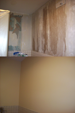 Skim Coating Before and After
